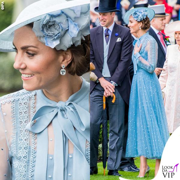 Royal Ascott Kate Middleton abito Elie Saab scarpe Gianvito Rossi