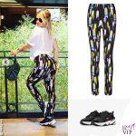 Wanda Nara leggins Gucci scarpe Nike