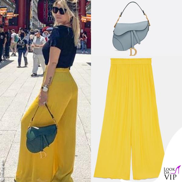 Wanda Nara tshirt Balenciaga borsa Dior pantaloni Zara INSTAGRAM