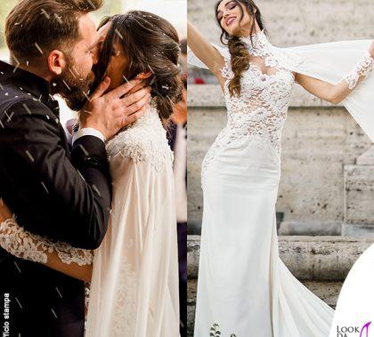 matrimonio Boccia Presta Lorella Boccia abito Blumarine Niccolo Presta abito tripleRRR