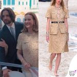 matrimonio Charlotte Casiraghi Carole Bouquet vestito Chanel