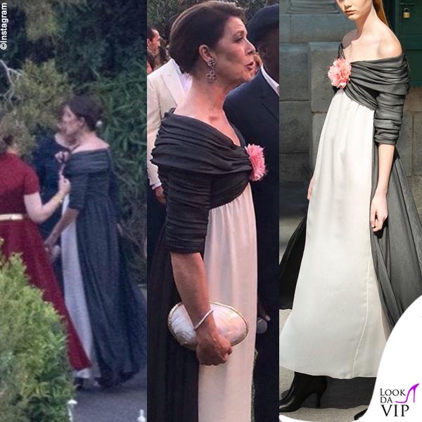 matrimonio Charlotte Casiraghi Carolina di Monaco abito Chanel