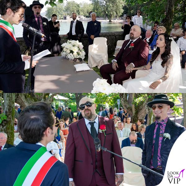 matrimonio Space One Emanuela Muratore abito Centro Sposi Paradiso Fabio Rovazzi J Ax abito Etro
