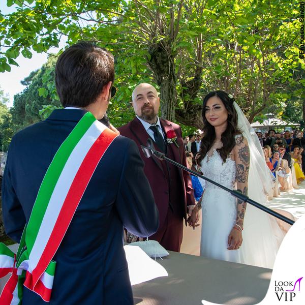 matrimonio Space One Emanuela Muratore abito Centro Sposi Paradiso Fabio Rovazzi Space One