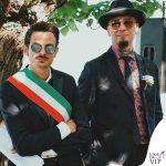 matrimonio Space One Fabio Rovazzi e J Ax outfit Etro