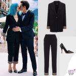 matrimonio Space One Fabio Rovazzi e Karen Casiraghi outfit Armani 2