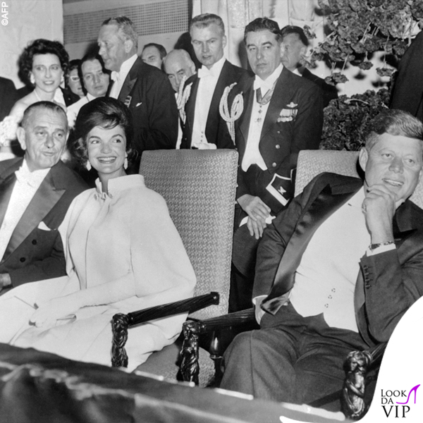 1961 Jackie Kennedy inaugurazione Casa Bianca abito Ethel Frankau of Bergdorf Custom Salon