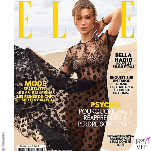 Bella Hadid cover Elle abito Dior