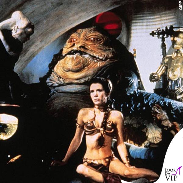 Carrie Fisher bikini Star Wars Il ritorno dello Jedi 1983