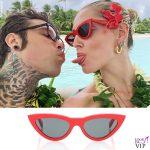 Chiara Ferragni Fedez Polinesia occhiali Celine