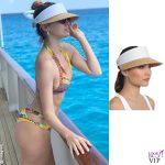 Elena Barolo costume miss bikini luxe cappello Eric Javits