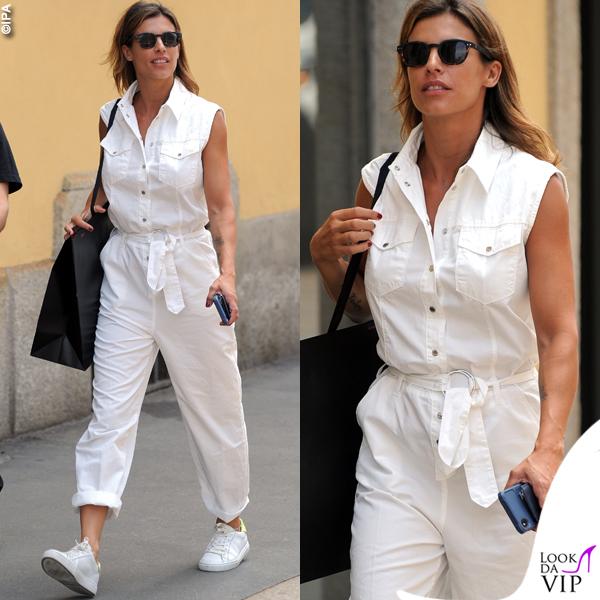 Elisabetta Canalis shopping a Milano tuta Pinko scarpe Crime London 0