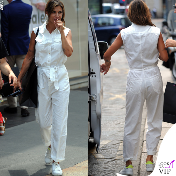 pretty nice 018d0 00c67 Elisabetta Canalis shopping a Milano tuta Pinko scarpe Crime ...
