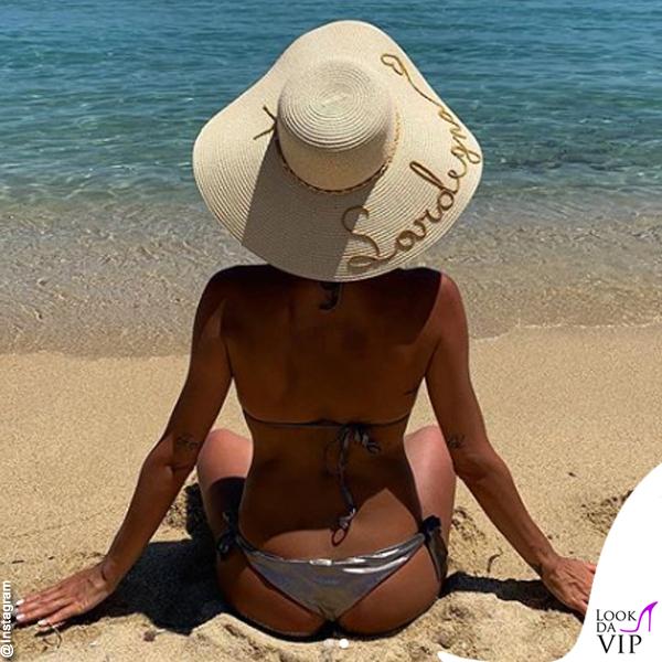 Giorgia Palmas bikini Tiare cappello Miraf hats