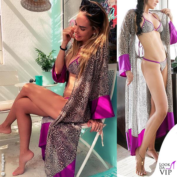 Ilary Blasi bikini kimono Maylo