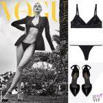 Irina Shayk Vogue Spagna intimo Intimissimi pump Saint Laurent