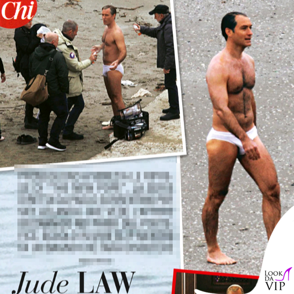 Jude Law The Young Pope slip bianco
