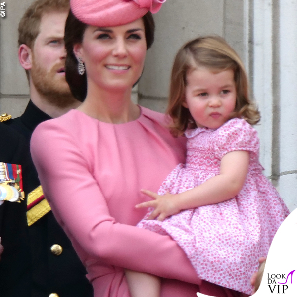 Kate Middleton principessa Charlotte Trooping the color 2017 2