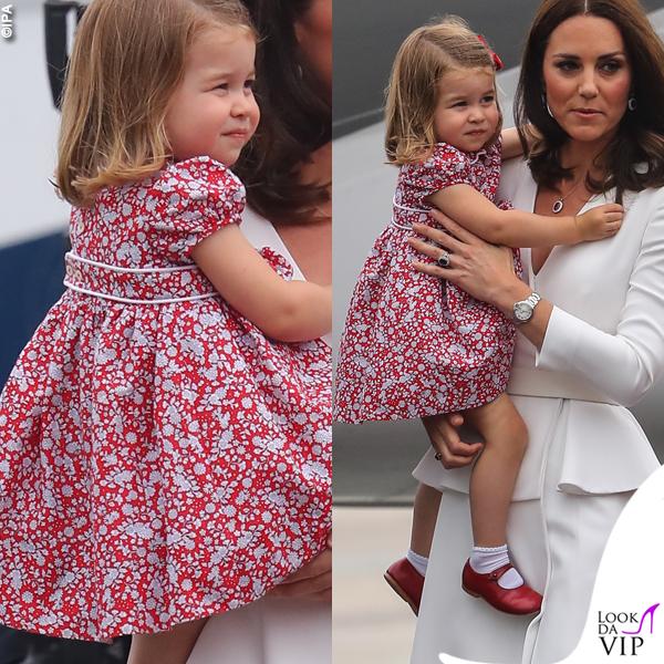 Kate Middleton principessa Charlotte tour in Polonia 2016