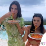 Kourtney Kardashian Kendall Jenner outfit Etro