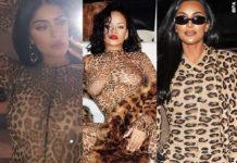 Kylie Jenner Rihanna tuta LaQuan Smith Kim Kardashian outfit Alaia