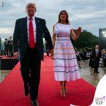 Melania Trump abito Carolina Herrera pump Louboutin