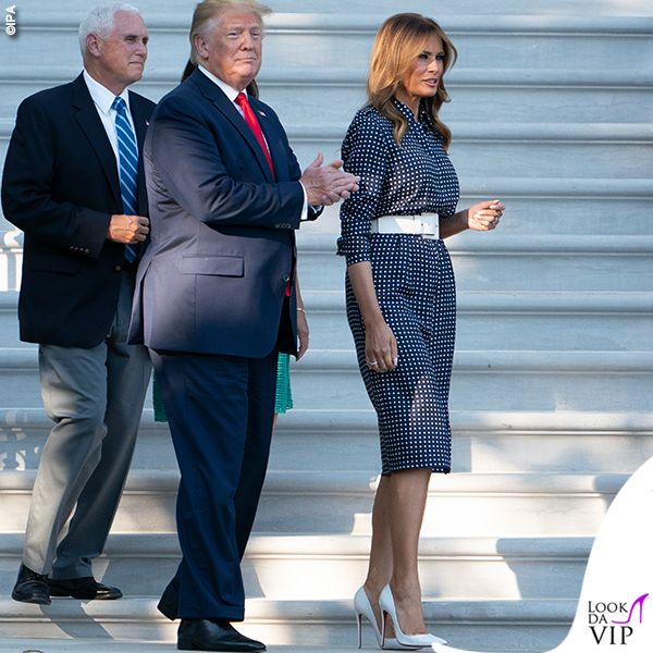 Melania Trump abito Gabriela Hearst pump Louboutin