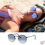 Melissa Satta occhiali Rayban