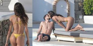 Mykonos 2019 Kevin Trapp Izabel Goulart bikini giallo Lenny Niemeyer 1