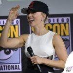 Scarlett Johansson tuta David Koma anello Taffin scarpe Gianvito Rossi 2