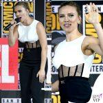 Scarlett Johansson tuta David Koma anello Taffin scarpe Gianvito Rossi 4