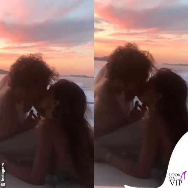 Stefano De Martino Belen Rodriguez Ibiza bacio 2