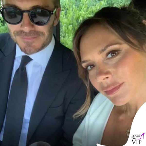 Victoria e David Beckham anniversario Versailles abito Victoria Beckham 3