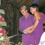 Victoria e David Beckham matrimonio abiti Antonio Berardi 2