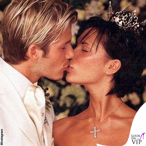 Victoria e David Beckham matrimonio abiti Vera Wang e Timothy Everett 4
