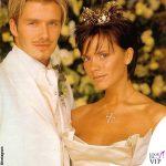 Victoria e David Beckham matrimonio abiti Vera Wang e Timothy Everett 5