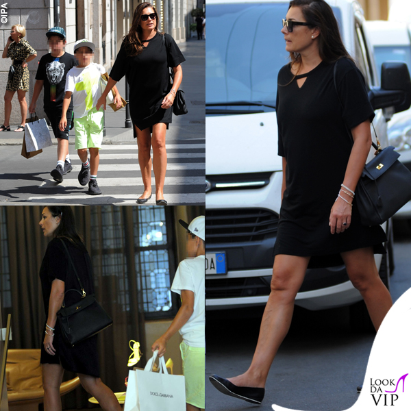 Alena Seredova David Lee Buffon, Louis Thomas Buffon shopping