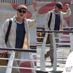 Brad Pitt Venezia look arrivo