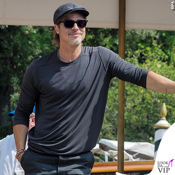 Brad Pitt Venezia look total grey 2