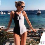 Caroline Daur costume Chanel