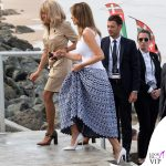 G7 Biarritz Brigitte Macron pump Louis Vuitton Melania Trump abito Alaia pump Christian Louboutin