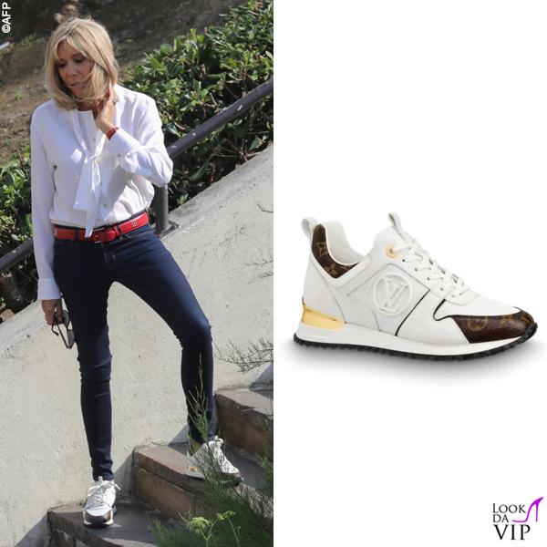 G7 Biarritz Brigitte Macron sneakers Louis Vuitton
