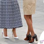 G7 Biarritz Melania Trump abito Alaia pump Christian Louboutin Brigitte Macron pump Louis Vuitton 2