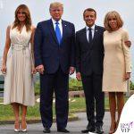 G7 Biarritz Melania Trump abito Gucci pump Christian Louboutin Brigitte Macron