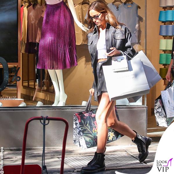 Irina Shayk look Falconeri shopping