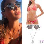 Melissa Satta bikini Changit occhiali Saint Laurent collana Chopard 2