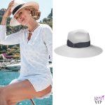 Serena Autieri cappello Borsalino