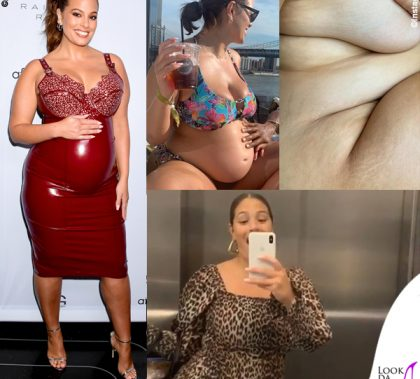 Ashley Graham abito Vex Clothing sandali Jimmy Choo 5