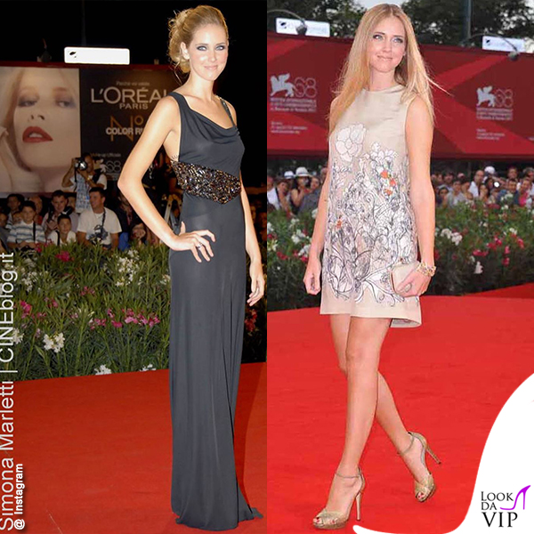 Chiara Ferragni Venezia 68 2011 red carpet abito Amen abito Cacharel