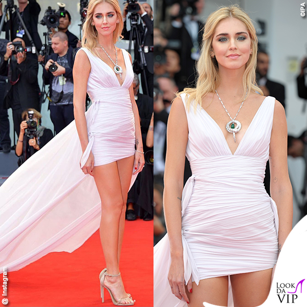 Chiara Ferragni Venezia 74 2017 red carpet vestito Philosophy